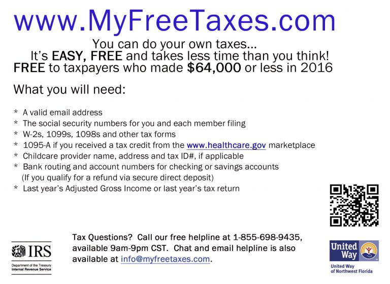 my free taxes flyer 2016